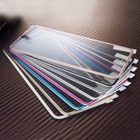 Wholesale New D Full Coverage Screen Protector Film Metal Alloy Tempered Glass For iPhone S quot Color