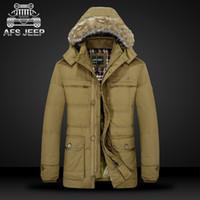 Wholesale 2016 AFS JEEP brand duck down jacket men Winter jacket men parka coat men warm Fur Collar casaco masculino plus