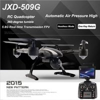 Wholesale JXD509G JXD509W RC Quadcopter Drone G FPV One Key return Take Off Rc Helicopter With HD MP Monitor RTF Drones
