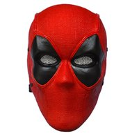 accessories frp - Full Face Deadpool Wade Wilson Superhero Mask Cosplay Props FRP Helmet Adult Party Halloween