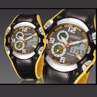 al por mayor reloj de lujo ohsen-2016 Nueva marca de lujo de OHSEN fresca Deportes Cascal Moda Relojes de retroiluminación pantalla digital de alarma de la fecha del cronómetro 30M impermeables relojes deportivos