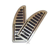 Wholesale For Ford Focus MK2 Focus MK3 Fiesta Kuga Ecosport Mondeo Stainless Steel Foot Rest Pedal cover Footplate Footboard Pedal