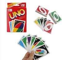 Wholesale HOT UNO poker card standard edition family fun entertainment board game Kids funny Puzzle game