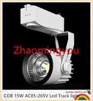Wholesale YON COB W lm AC85 V Led Track light Track aluminum Ceiling Rail Track lighting Spot Rail Super Bright