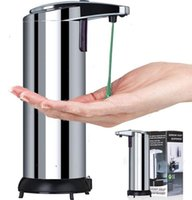 Wholesale NEW Arrival Automatic Soap Dispenser Stainless Body Steel Sensor Soap Sanitizer Dispenser Touch free ml