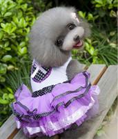 bear wedding dress - Pet clothing dog clothes princess wedding dress skirt jumpsuit Teddy Bear Spring special Sweet princess skirt bitter fleabane bitter dress