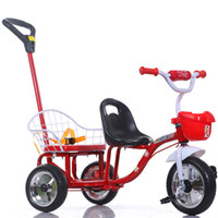 baby outdoor activities - Large Wheels Child Tricycle Double Seats Summer Kid Outdoor Activity Toys Portable Baby Bike Strollers JN0040