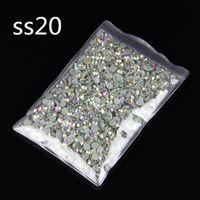 Wholesale Hot bags ss20 mm AB color Crystal Rhinestones DMC Hot fix Stone Crystal Beads Loose Rhinestone Beads
