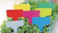 Wholesale 6 x10cm Plastic Plant T type Tags Markers Nursery Garden Labels Decoration