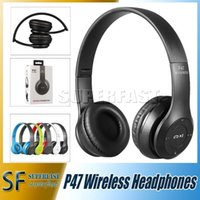 Wholesale P47 Bluetooth Headphone for Samsung Note EDR Wireless Headphone FM Stereo Radio For iPhone7 With Retail Box