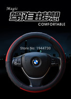 Wholesale Hand sewing leather CM Car steering wheel cover For Toyota RAV4 Corolla Reiz Camry Levin Vios Yaris Car Styling