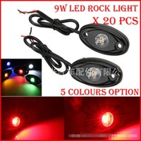 atv reverse light - 20PCS Pair quot W x3W Cre LED Rock Light Off Road ATV x4 Truck Trailer Fender Rig Underbody Puddle Light lm White Red Blue G Y