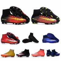 Cheap MENS Soccer Cleats CR7 Cristiano Ronaldo Mens Superfly FG TF Football Boots WomenS High Top Soccer Sneakers Shoes Youth Turf Pink