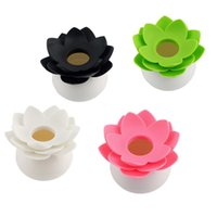 Wholesale Lotus Cotton swab box lotus cotton bud holder base room decorate Lotus Toothpicks holder Toothpick case New Arrival