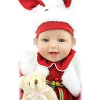 affordable baby gifts - Christmas Kids Toys Best Gift Affordable Reborn Dolls CM inch Soft Silicone Vinyl Realistic Baby Dolls Winter Hot Sale