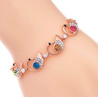 article links - The new summer han edition of fashion design colorful swan crystal alloy bracelet adorn article