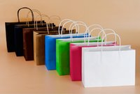 Wholesale 6 Styles Fashionable Gift Paper Bag Kraft Paper Bag Festival Gift Package NEW Blank Gift Paper Bag