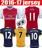 Wholesale Arsenal Kids Home and away Soccer Jerseys OZIL WILSHERE RAMSEY ALEXIS rugby jerseys football shirt Thai Quality16
