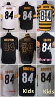 antonio homes - 84 Antonio Brown Black White Yellow Football Jerseys Home Away Elite Men Women Youth Kids Stitched Free Drop Shipping