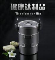 Wholesale Keith Titanium Multipurpose Pot Picnic Camping Hiking Rice Cookware L g Ti6300