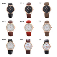 belt with a buckle - Fashion business mens watches power reserve watch GTWH9 Quartz Wrist watches rose gold Round dial strap watches pieces a mix color