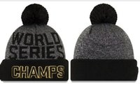 Wholesale 2016 New Baseballl Champs Beanies Pom Knit Hats world Series Sports Cap Mix Order Top Quality Hat Winter Wool Hats Cubs Beanies