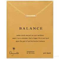 balance chain - Balance String Tassle Dogeared Necklace Balance Noble and Delicate Jewelry K Gold Plated Triangle Charm Necklace Christmas Gift