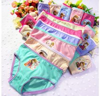 Wholesale Children Underwear Hot Girls Cute Ice and Snow Character Printing and Cotton Underwear Fashion Kids Elastic and Comfortable Underwear