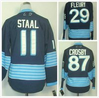 Série de hockey France-2016 Stadium Series Minnesota Wild Hockey Maillots # 87 sidney crosby # 29 Andre Fleury # 11 Maillots Zach Parise Bienvenue à la commande