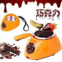 Wholesale Hot Chocolate Melting Pot Electric Fondue Melter Machine Set DIY Tool Durable