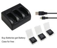 3x1220mAh batería AHDBT-501 AHDBT501 Bateria + cargador USB de 3 ranuras para GoPro héroe 5