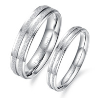 Wholesale contracted Stainless Steel Double row Grind arenaceous lovers rings