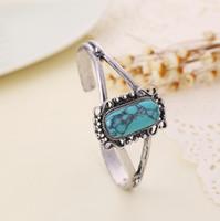 bella turquoise bracelet - Bella Natural turquoise bracelet with female models bracelet size can be adjusted