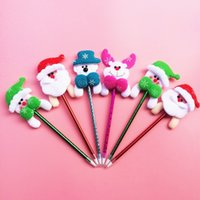 bell points - Christmas Creative Ball Point Pen with bell Hair Band Christmas Festival Day Pen Christmas Decoration Pen Student Reward Gift