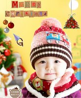 baby bomber hat - Christmas Gift Baby Winter Hat And Scarf Set Neck Warmer Cute Snowman Christmas Tree Beanie Cap Kids Boys Girl Snow Caps Knitted Bomber Hats