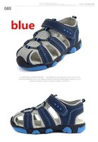 Wholesale New Style boys antislip sole sandals Summer cut out comfortable flats leather sandals kids Children breathable shoes