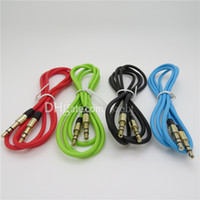 Wholesale Aux Cable Auxiliary Cable mm Male to Male Audio Cable Stereo Car Extension Cables for Digital Device up DHL
