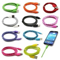Wholesale 3 FT Braided Fabric Micro USB Data Cable Sync Charger Cable For Android Smart Phones Samsung Galaxy S7 S6 LG G5