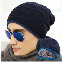 Wholesale New The skull Unisex Acrylic Knit Hat Warm Winter Hats Skull Style Skullies Beanies Solid Color Hip Hop For Woman And Men