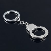 Robot Keychain Promotion Alloy keychain! Casual Fashion couple Handcuffs Key Chains Ring Creative car metal key holder Souvenir for men gift 2028