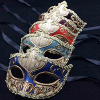animal mask making - HIGH GRADE Hand Made Party Mask Wedding Venetian Half face sexy mask colors Halloween Masquerade princess Braid Mardi Gras Mask