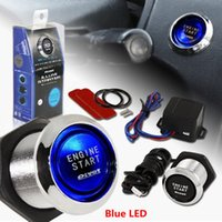 Wholesale New Car SUV Keyless Engine Ignition Power Switch Blue LED Light Starter Push Button YY386
