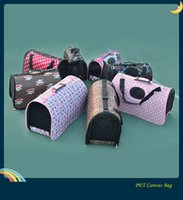 Wholesale Hot Pet supplies Canvas Dog carriers portable dog bags packs cat carriers handbags small dog bags