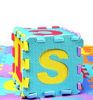 Wholesale 36pcs Colorful Kids Puzzle Unisex Educational Blocks Baby Toy Gift Alphabet Letters Numeral Foam Mat