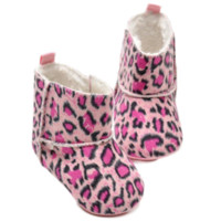 baby cribs store - Baby Snow Boots Soft Crib Shoes Toddler Leopard Boots baby shoes girls children footwear shoe box shoe stores