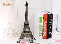antique collectible figurines - Household Metal Crafts Bronze Tone Paris Eiffel Tower Figurine Statue Vintage Alloy Model Decor cm Classical Home Decoration Ornament