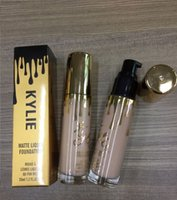 Wholesale newest Golden Kylie liquid foundation ml color kylie Face Powder professional matte luiqid foundation top quality in stock