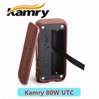 Single Red Wood 2016 100% Authentic Kamry 80W Universal TC Box Mod Wooden E-cigarette 18650 Mods Support NC Ni Ti Wire Coils 510 thread Tank Atomizers