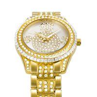 als steel - Benchmarking neue Modeschmuck Diamant Legierung Schnalle Edelstahl Quarz wasserdichte Uhren Glocke als die Farbe Gold Uhr für belbi