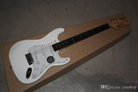 Wholesale FENDER Custom Body Ebony fingerboard Stratocaster with synchronizec tremolo white Electric Guitar